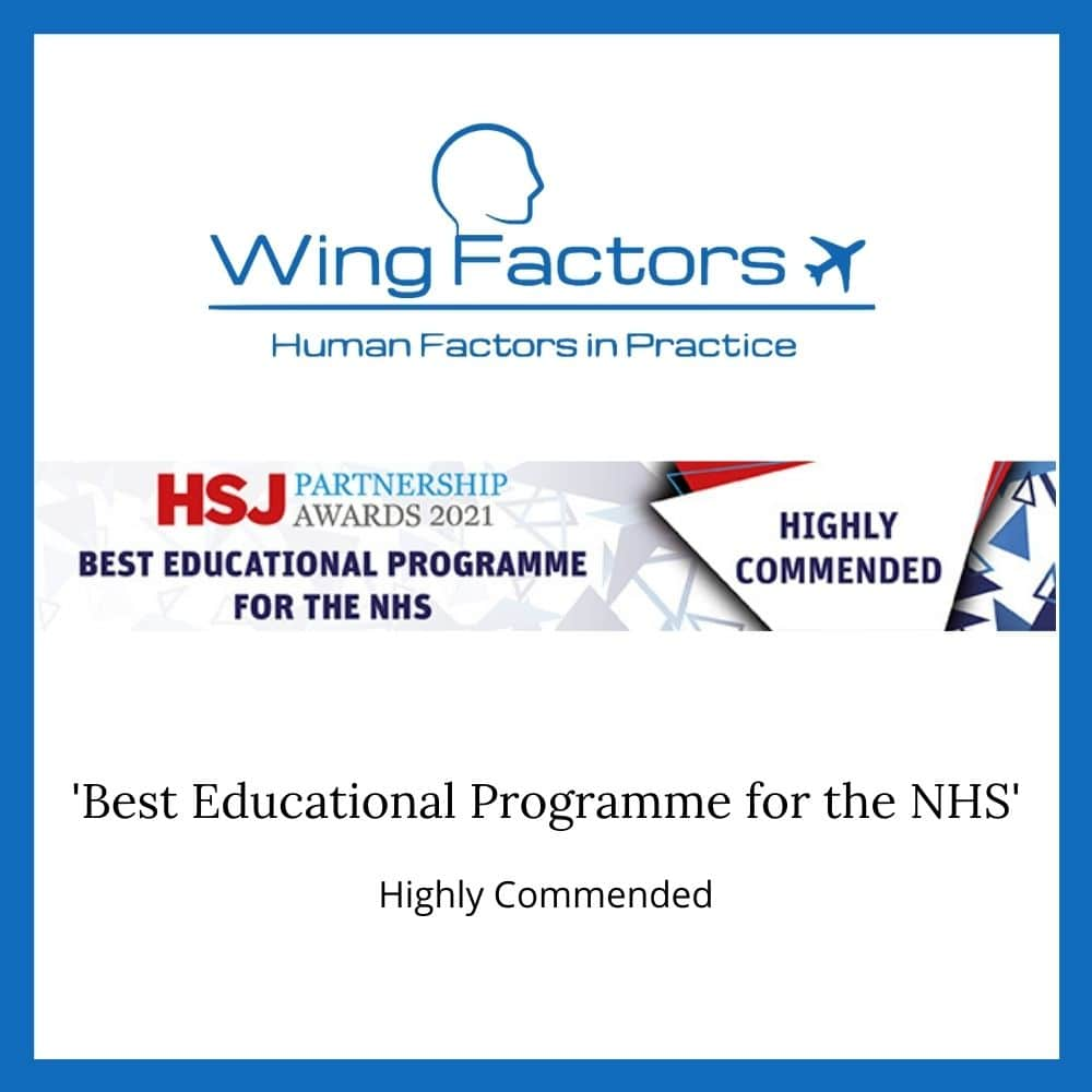 HSJ Best Educational Programme for the NHS Highly Commended