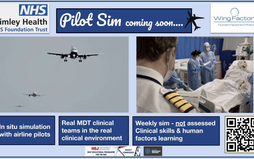 WingFactors is launching the 'Pilot Sim' programme in collaboration with Frimley Health Trust